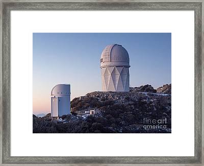 The Mayall Observatory Sits Atop Kitt Framed Print by John Davis