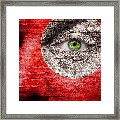 The Mayan Eye Framed Print