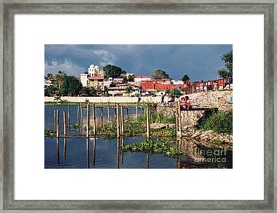 The Mayan Isle Of Flores - Peten Guatemala Framed Print
