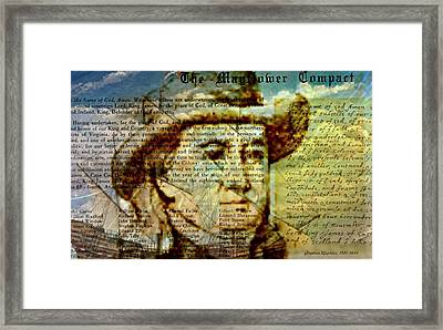 The Mayflower Compact Framed Print by Diana Angstadt