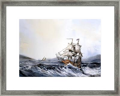 F 822 The Mayflower Framed Print