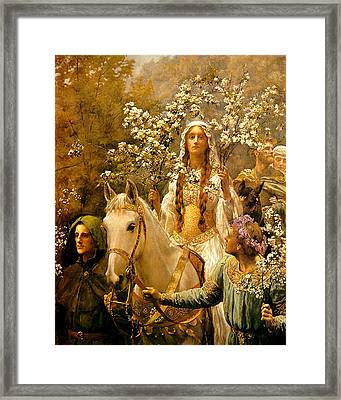 The Maying Of Queen Guinevere Framed Print