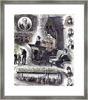 The Mayors  Juvenile Ball At The Manchester Townhall 1882 Framed Print by English School