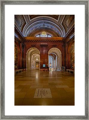 The Mcgraw Rotunda At The New York Public Library Framed Print by Susan Candelario