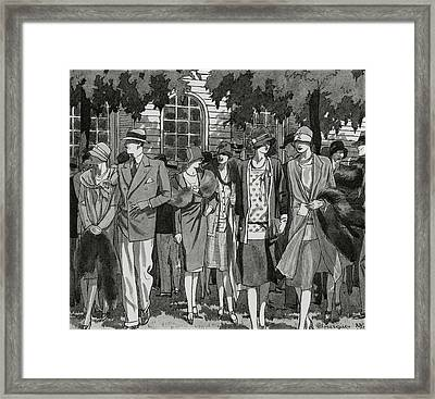 The Meadow Brook Club After A Polo Match Framed Print