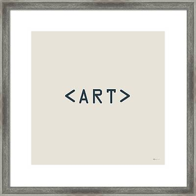 The Meaning Of Art - Angle Brackets Framed Print by Serge Averbukh