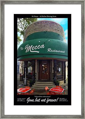 The Mecca Restaurant Framed Print