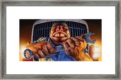 The Mechanic Framed Print by Mark Fredrickson