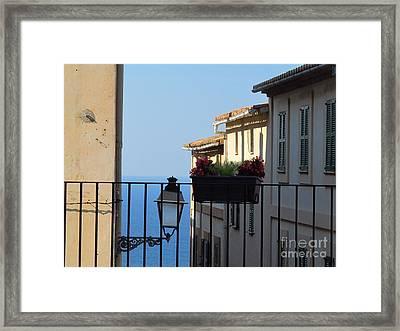 The Med Sea At Banyalbufar Framed Print