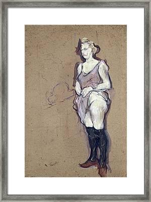 The Medical Inspection Blonde Prostitute, 1894 Oil On Card Framed Print