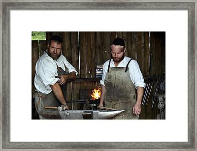 The Medieval Blacksmith In Bavaria Framed Print