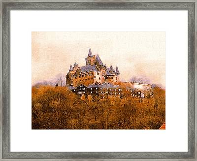The Medieval Castle Of Wernigerode Framed Print by Susan Maxwell Schmidt