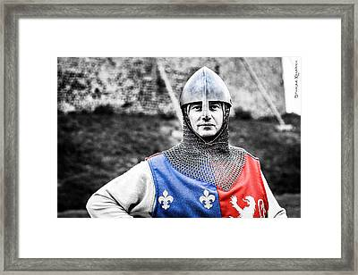 Framed Print featuring the photograph The Medieval Warrior by Stwayne Keubrick