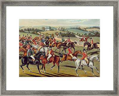 'the Meet' Plate I From 'fox Hunting' Framed Print by Charles Senior Hunt