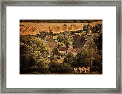 The Meeting Framed Print by Chris Lord