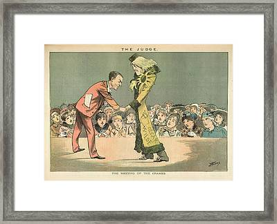 The Meeting Of The Cranks Framed Print