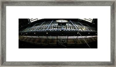 The Meeting Place Statue At St Pancras Framed Print by Panoramic Images