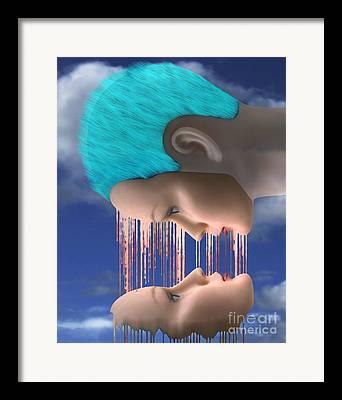 Melting Together Framed Prints