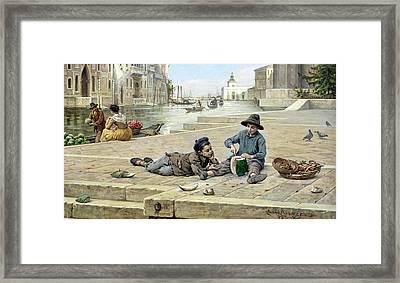 The Mellon Seller Framed Print by Antonio Paoletti