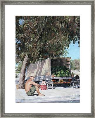 The Melon Seller Framed Print by Theo Michael