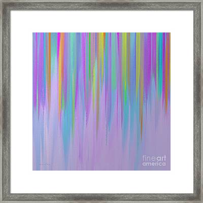 The Melting Rainbow Abstract Square Framed Print