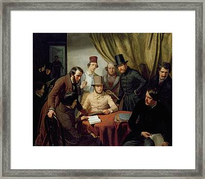 The Members Of The Hamburg Artist's Club Framed Print by Gunther Gensler
