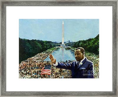 The Memorial Speech Framed Print