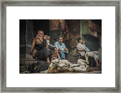 The Men Mourn Framed Print by Valerie Rosen