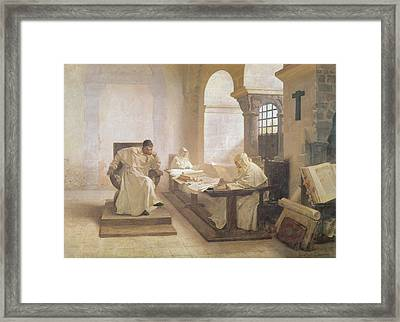 The Men Of The Holy Office Oil On Canvas See Also 166365 Framed Print by Jean Paul Laurens