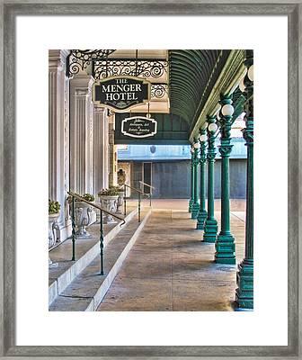 The Menger Hotel In San Antonio Framed Print