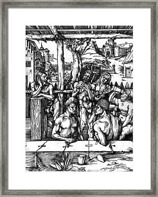 The Mens Bath Framed Print by Albrecht Durer or Duerer