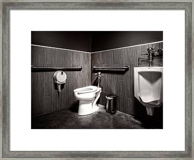 The Mens Room Framed Print by Bob Orsillo