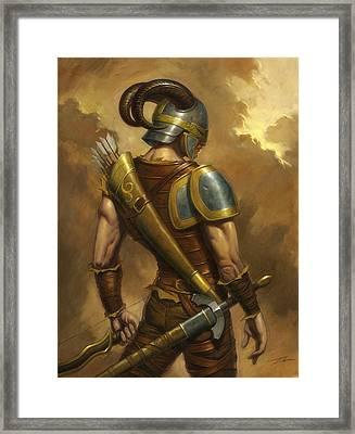 The Mercenary Framed Print by Alan Lathwell