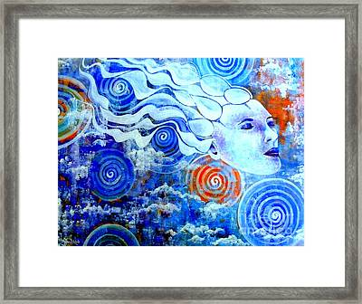 The Merging Framed Print