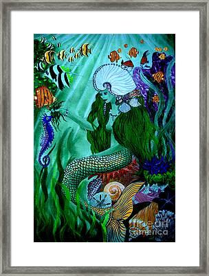 The Mermaid Framed Print by Sylvie Heasman