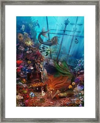 The Mermaids Treasure Framed Print