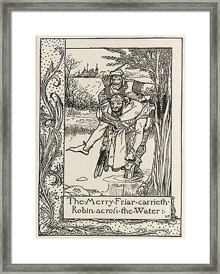 The Merry Friar Framed Print by British Library