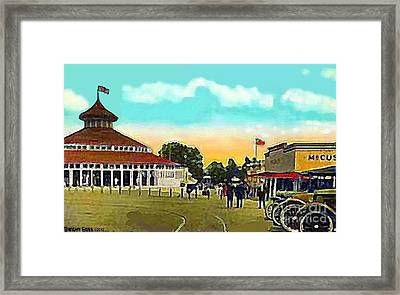 The Merry-go-round At Crescent Park In Providence Ri In 1910 Framed Print