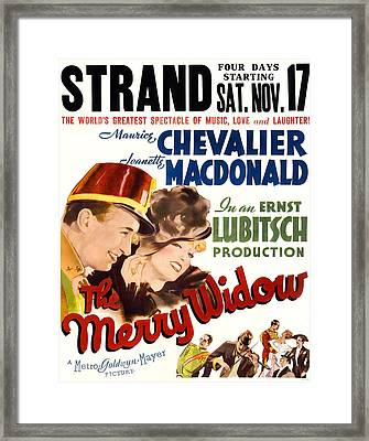 The Merry Widow, Us Poster, From Left Framed Print by Everett