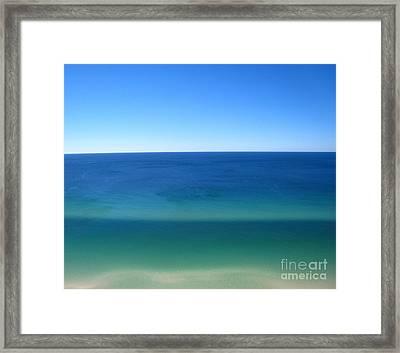 The Mesmerizing Emerald Coast Framed Print by Jennifer E Doll