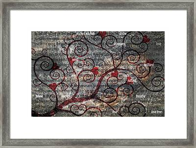 The Message Tree Framed Print