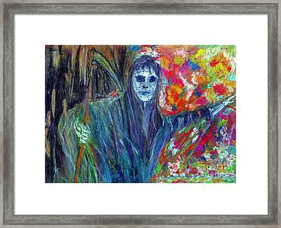 The Messenger Framed Print by Azul Fam