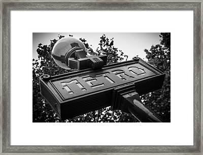 The Metro Sign Paris Framed Print