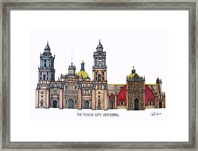 The Mexico City Cathedral Framed Print by Frederic Kohli