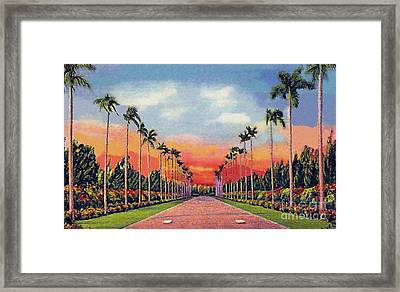 The Miami Jockey Club In Hialeah Fl Framed Print