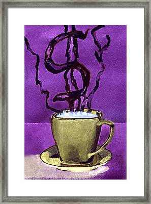 Framed Print featuring the painting The Midas Cup by Paula Ayers