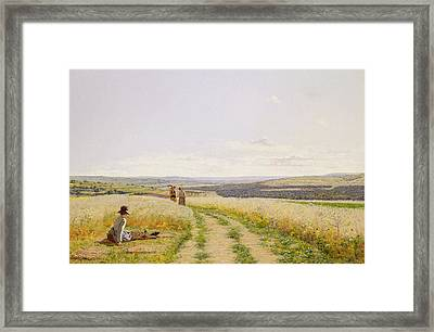 The Midday Rest  Framed Print by Jean F Monchablon