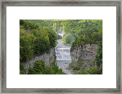 The Middle Falls At Letchworth State Park Framed Print