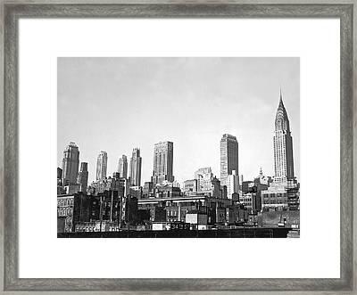The Midtown Manhattan Skyline Framed Print