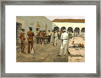 The Mier Expedition Framed Print by Fredrick Remington